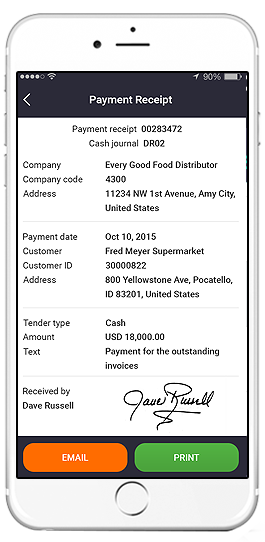 sap invoice collection app