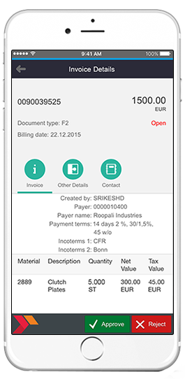 sap invoice accounting details app