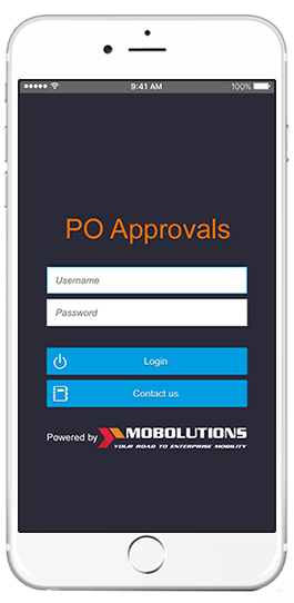 sap purchase order approvals app