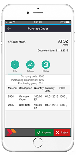 sap purchase orders details app