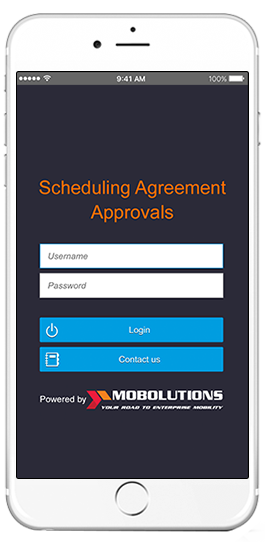 sap scheduling agreement approvals app
