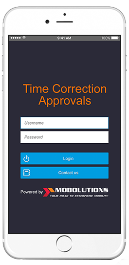 sap time correction approval app