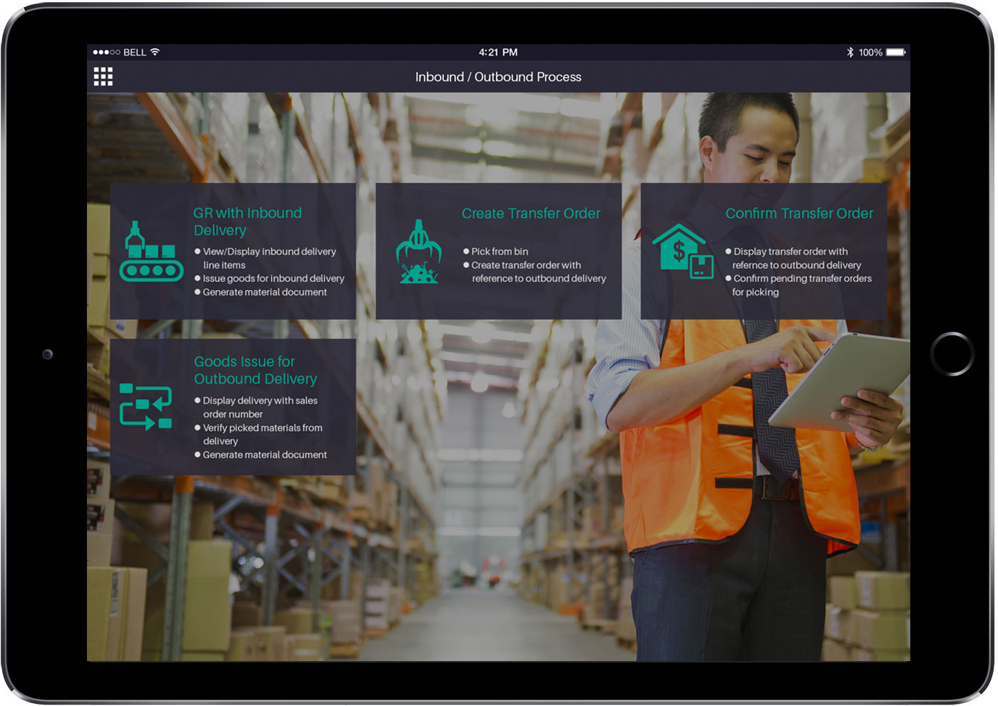 SAP Inventory Management App - Inbound / Outbound Process