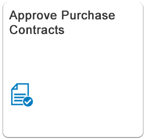 Approve Purchase Contracts - Fiori App