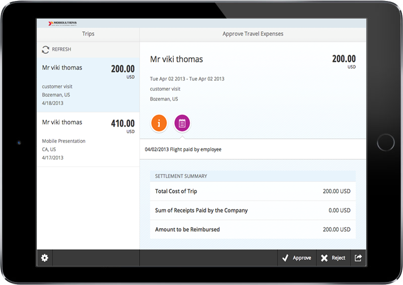 Fiori Approve Travel Expenses App | FICO SAP