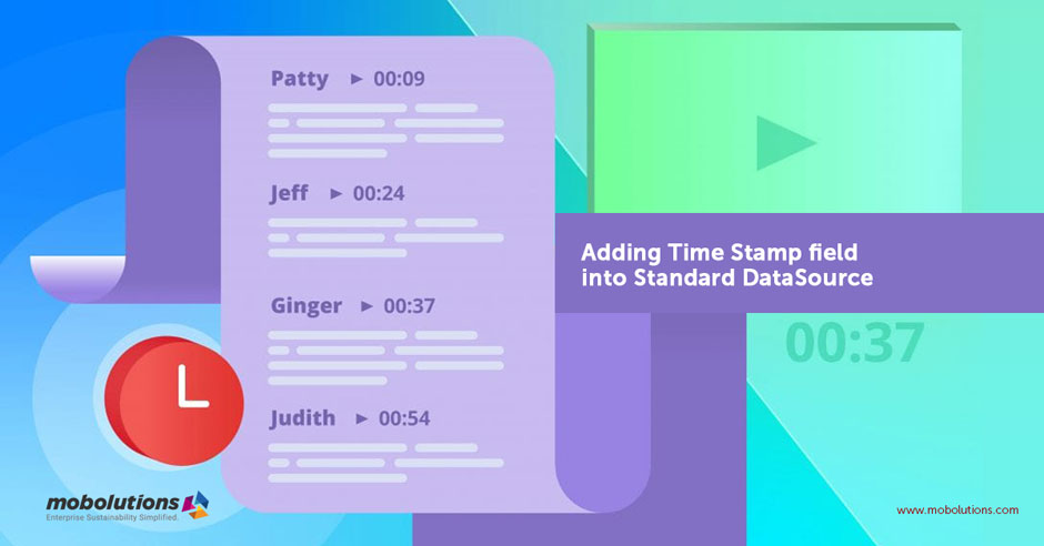 Adding Time Stamp field into Standard DataSource